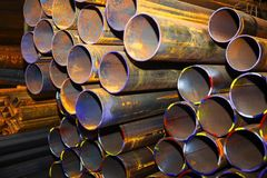 industriella metallrør Arkivbilder