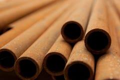 Industriella metallrør Royaltyfri Bild