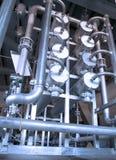 industriella metallrør för bakgrund Royaltyfria Bilder