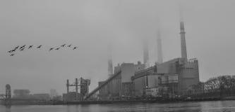Industriella New York City fotografering för bildbyråer