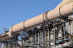 industriella pipelines Royaltyfri Fotografi