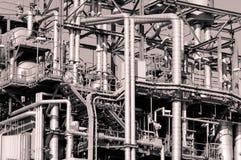 industriella pipelines Arkivbild