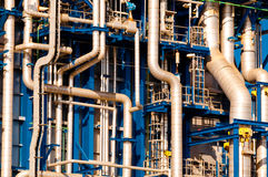 industriella pipelines Arkivbilder