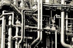 industriella pipelines Arkivfoto