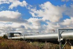 industriella pipelines Arkivfoton