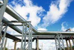 industriella pipelines Royaltyfria Foton