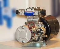 Industriella pumpar med ventilen Fotografering för Bildbyråer