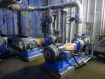 Industriella pumpar och rör Royaltyfri Fotografi
