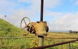 Industriella rör och ventil Royaltyfri Fotografi