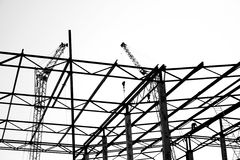 industriella silhouettes Royaltyfri Foto
