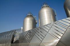 Industriella silor Fotografering för Bildbyråer
