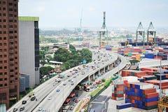 Industriella Singapore Arkivfoton