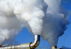 industriella smokestacks Fotografering för Bildbyråer