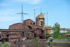 Industriella spår arkivbild