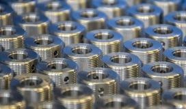 Industriella ståldelar royaltyfri bild