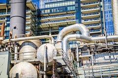 Industriella strukturer nära seattle strand Fotografering för Bildbyråer
