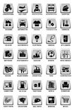 industriella symboler royaltyfri illustrationer