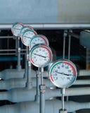 industriella termometrar Arkivbilder