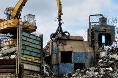 Industrielle Abfallaufbereitungsanlage Stockfotografie