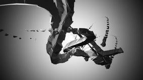industrielle Abstraktion 3D Stockfoto