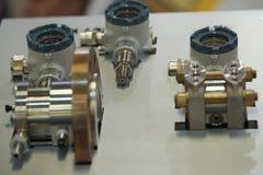 Industrielle Ausrüstung auf Technologieausstellung - Teile der Verdrängungslinie Lizenzfreie Stockfotografie