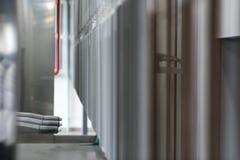 Industrielle automatische malende Technologie Pulverbeschichtungen stockfoto