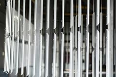 Industrielle automatische malende Technologie Pulverbeschichtungen stockfotos