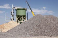 Industrielle Bergbauanlage unter cosntruction Lizenzfreie Stockbilder