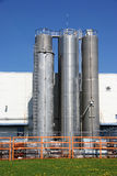 Industrielle Bunker Stockfotografie