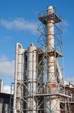 Industrielle Chemiefabrikrohre und -entlüftungsöffnungen Lizenzfreies Stockbild