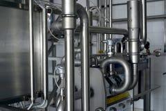 Industrielle Edelstahlrohrarbeit Lizenzfreies Stockfoto