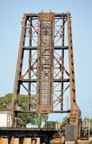 Industrielle Eisenbahn-Zugbrücke Lizenzfreie Stockfotografie