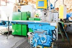 Industrielle Eisendrehbank für den Schnitt, Drehen von Billets von den Metallen, Holz und andere Materialien, drehend, Herstellun stockbilder