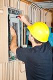 Industrielle elektrische Arbeit Stockbilder