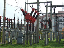 Industrielle Elektrizitätsanlage Stockfotografie
