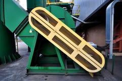 Industrielle Fördererlinie, die Paket, Ayutthaya, Thailand transportiert Stockfotos