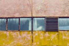 Industrielle Fabrik Windows Lizenzfreies Stockfoto