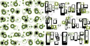 Industrielle grüne Retro- Elemente Stockfotografie