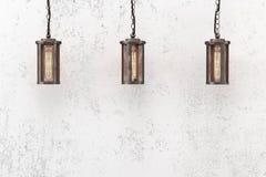 Industrielle hängende Lampe auf einem Hintergrund Stockfotos