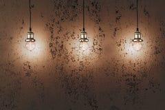 Industrielle hängende Lampen Lizenzfreie Stockbilder
