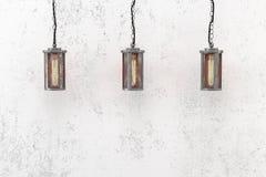 Industrielle hängende Lampen der Dachbodenart Lizenzfreie Stockbilder