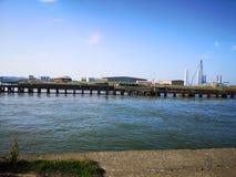 Industrielle Hafenfabrik Gorleston stockbilder