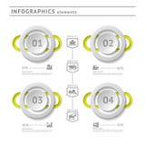 Industrielle infographics Elemente. Modernes Design te lizenzfreie abbildung