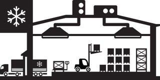 Industrielle Kühlhausszene Lizenzfreie Stockbilder