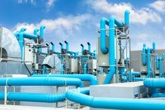 Industrielle Klimaanlage Stockfoto