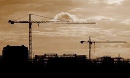 Industrielle Kräne Lizenzfreies Stockbild