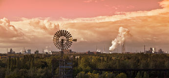Industrielle Landschaft Stockfotos