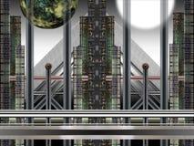 Industrielle Landschaft Stockfoto