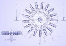Industrielle Lichtpause Lizenzfreies Stockfoto