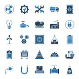 Industrielle lokalisierte Vektor-Ikonen, die leicht geändert werden oder redigieren können stock abbildung